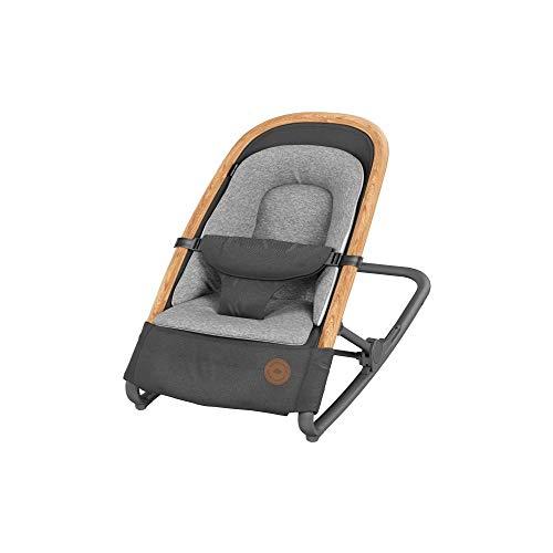 Bébé Confort Kori Transat 2 en1, Transat Léger avec Réducteur Confortable pour Nouveau-Né, de La Naissance à 9 Mois (0-9 Kg), Essential Graphite