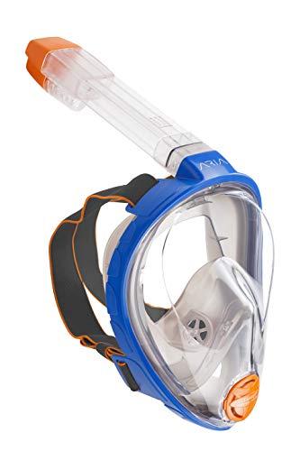 OCEAN REEF - Aria Classic Máscara de Snorkeling - Máscara de Snorkel Integral con Tubo - Azul - Talla L/XL