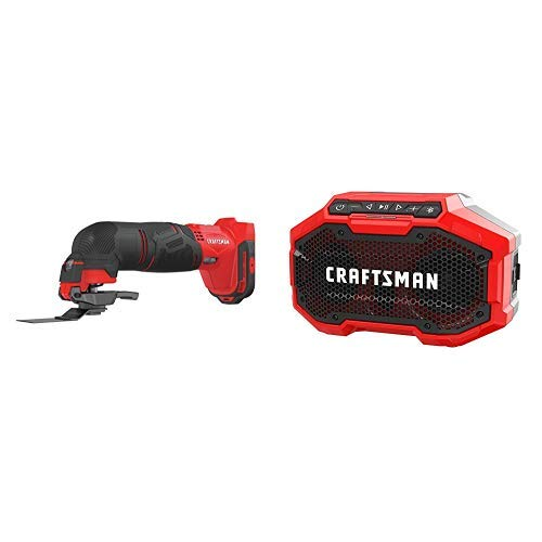 Why Choose CRAFTSMAN V20 Oscillating Tool Cordless with Bluetooth Speaker, Tools Only (CMCE500B & CM...