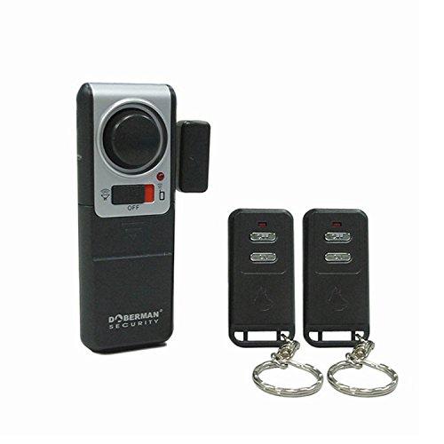 Doberman Security SE-0119A Wireless Door Alarm with 2 Remote...
