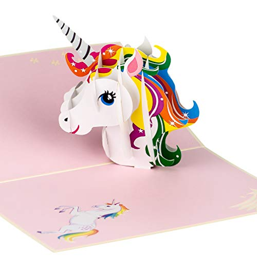 Unicorn Pop Up Birthday Card by DEVINE Popup Cards | 3D Birthday Card for Kids Mum Daughter Sister |Pop Up Birthday Cards for Women |3D Cards Thank You Happy Birthday Love Pop Up Cards Gifts for Girls