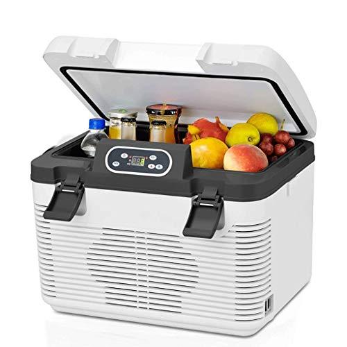 NXYJD Coche de refrigerador de Doble refrigeración del Coche Mini refrigerador del hogar del Coche de Doble Uso del termostato refrigerado Pequeño Camión Frigorífico