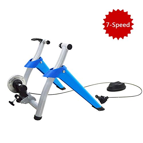 Indoor Fiets Trainer Oefening Stand 7 Levels Magnetic Resistances Training Magnetische Trainer Stand W/Quick Release & voorwiel Riser Block