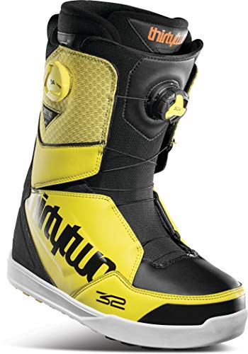 Thirty Two Lashed Double BOA Mens Snowboard Boots Black/Yellow Sz 10