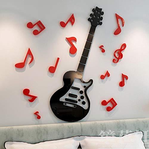 JWQT Guitarra 3D cristal acrílico tridimensional etiqueta de la ...
