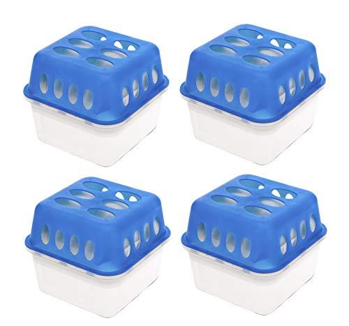 4x Luftentfeuchter Granulat Box + 8x Nachfüllbeutel - Raum Entfeuchter Raumtrockner