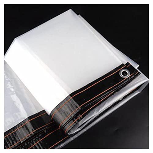AWSAD Telo Impermeabile Trasparente PVC 0,12 Mm A Prova di Strappo Resistente allo Strappo Le Piante Si Tengono al Caldo Mobili da Giardino Pergola (Color : Transparent, Size : 4x5m)
