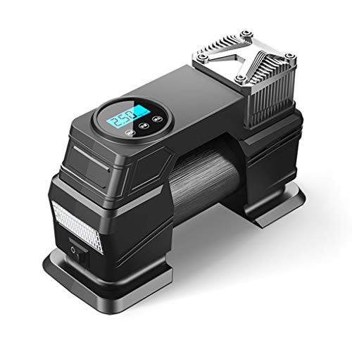ZhanMa Car Tire Inflator Portable Inflator Air Compressor AC 12v 150psi LED Smart Digital Cigarette Lighter Accurate Best Electric Pump Used Bicycle Bike Ball Motorcycle CUYRHTZY5.1