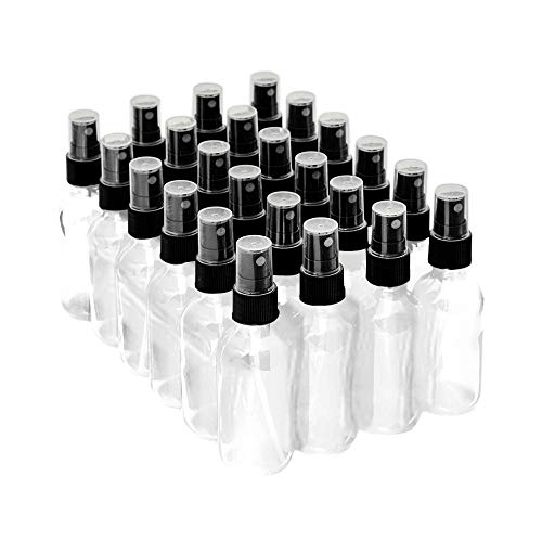 7 Colors Available - The Bottle Depot Bulk 24 Pack 2 oz Clear Glass Bottles with Spray; Wholesale Quantity for Essential Oils, Serums with Pretty Finish to Protect and Preserve Quality