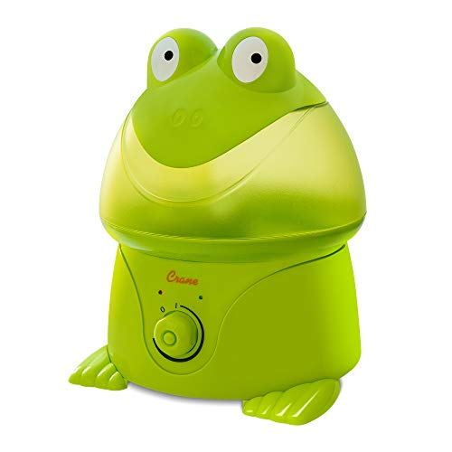 Crane Adorables Ultrasonic Cool Mist Humidifier, Filter Free, 1 Gallon, 24 Hour Run Time, Whisper Quite, for Home Bedroom Baby Nursery and Office, Frog