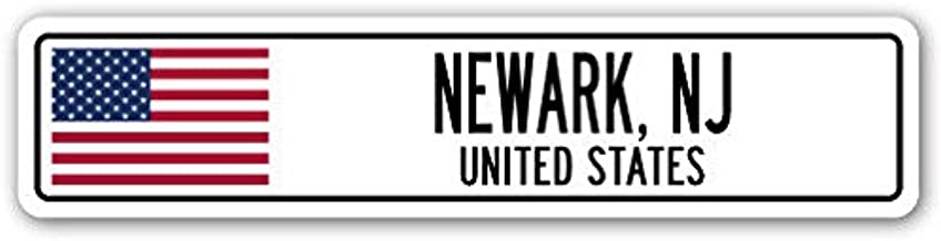 Cortan360 NEWARK, NJ, UNITED STATES Street Sign Decal American flag city country gift 8