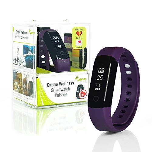 Sharon Fitnessarmband Pulsuhr, Schrittzähler und Schlaftracker, Aktivitätstracker, Pulsmesser, Weckfunktion, Saunafest und Wasserdicht (IP68), Smartphone kompatibel für AOK Plus, iOS und Android