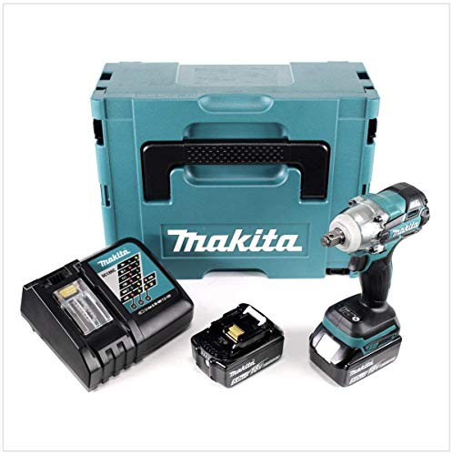 Makita DTW 285 RTJ Akku Schlagschrauber 18V 280Nm 1/2' Brushless + 2x Akku 5,0Ah + Ladegerät + Makpac
