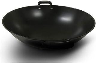Wok, Pots De Cuisson Poêles Pot wok maison Poêle À Frire Tradition Wok Pig Pot De Fer Pot De Fer Brut Grand Wok Antiadhési...