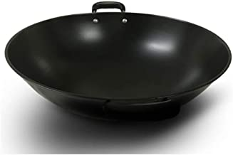 Cooking Pots Pans Pot home wok Frying Pan Tradition Wok Pig Iron Pot Raw Iron Pot Large Wok Non-Stick Uncoated Binaural Wo...