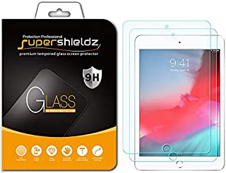 [2-Pack] Supershieldz for Apple iPad Mini 5 (2019) / iPad Mini 4 Tempered Glass Screen Protector, Anti-Scratch, Bubble Free, Lifetime Replacement