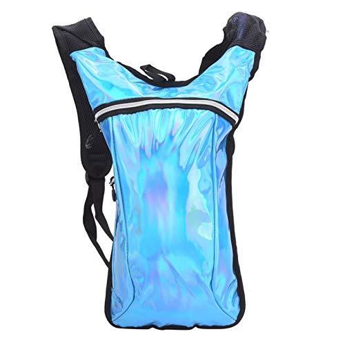 FOLOSAFENAR Bolsa de Agua para Exteriores Ligera y Duradera de PU Mochila Mochila de Agua para Ciclismo, para Pelear, con Espalda Acolchada única, con Correa Ajustable para el Hombro y el((Blue))