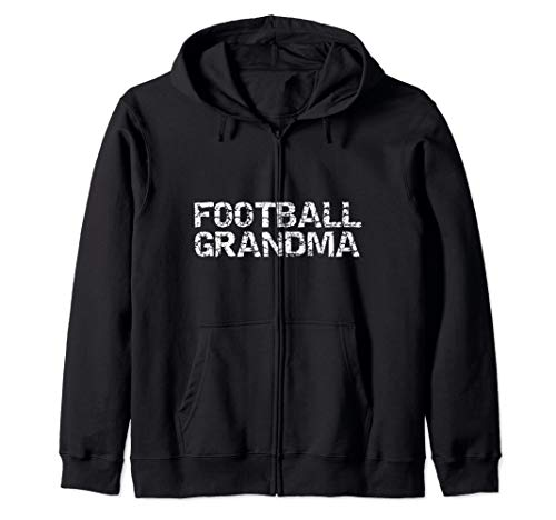 Matching Football Game Day for Grandparents Football Grandma Zip Hoodie