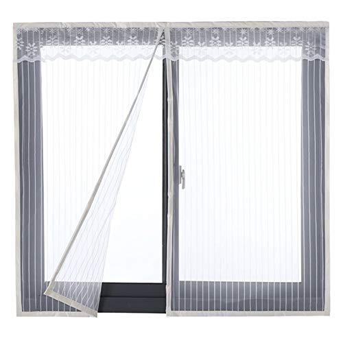 HTDG Raamhor, magneet, wit, klittenband, vliegengaas, insectenwerend weefsel, glasvezel, aluminium, sterk, groot vliegengaas, insectenbescherming, zonder boren