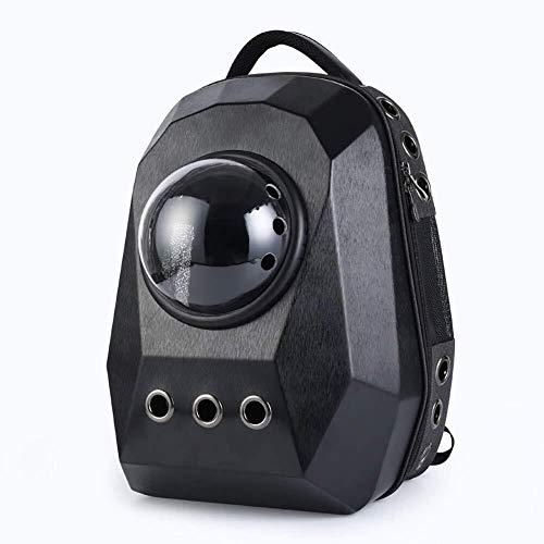 Stella Fella Black Space Pet Pack Cat Dog Backpack Large Outdoor Portable Travel Breathable Oxford Cloth Tote