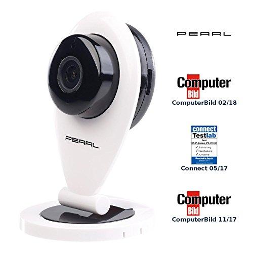 PEARL Funkkamera ohne WLAN: HD-IP-Kamera mit Bewegungserkennung, IR-Nachtsicht & microSD-Aufnahme (Überwachungscam)