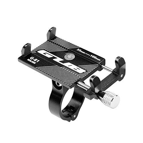 """DishyKooker Aluminiumlegierung Fahrrad Handyhalter Motorrad Lenkerhalterung für 3,5-6,2\""""Smartphone für i*Phone Xs Max Xr X 8 sam-Sung schwarz"""