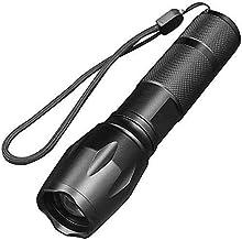 Yadianna Flashlight,Multi-Function Waterproof Telescopic Field USB Searchlight for Daily Use Handheld Flashlights Super Br...