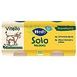 Photo Gallery hero solo omogeneizzati vitello bio, cartone da 12 vasetti 2 x 80 gr