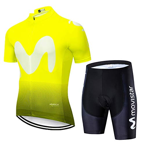 Hplights Ciclismo Conjunto Ropa Equipacion Traje Ciclismo Hombre para Verano, Maillot Ciclismo...