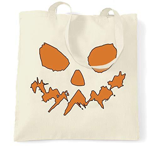 Tim And Ted Halloween Tragetasche Scary Halloween-Kürbis-Gesicht Natural One Size