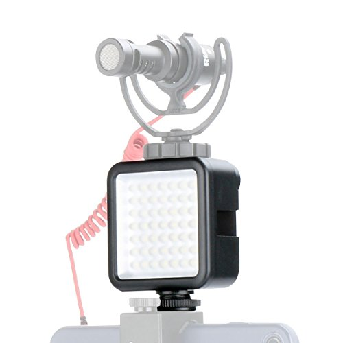 Ulanzi Ultra Bright LED Video Light - LED 49 Dimmable High Power Panel Video Light for DJI Ronin S SC OSMO Mobile 3 2 Zhiyun WEEBILL Smooth 4 Gimbal for Canon Nikon Sony Digital DSLR Cameras
