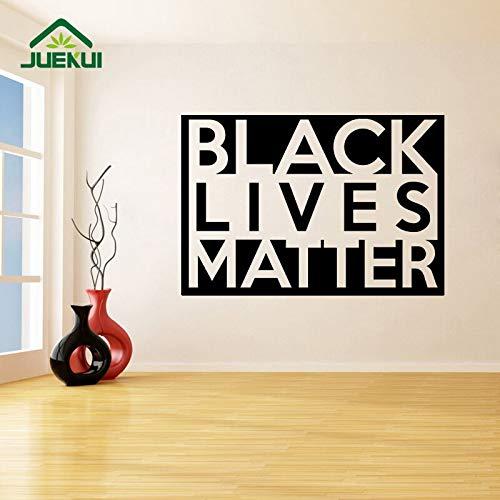 jiushivr Black Lives Matter Adhesivos de Pared para Sala de Estar, decoración de Papel Tapiz, calcomanías de Vinilo, Dormitorio, Arte, póster, murales, 87X56 cm