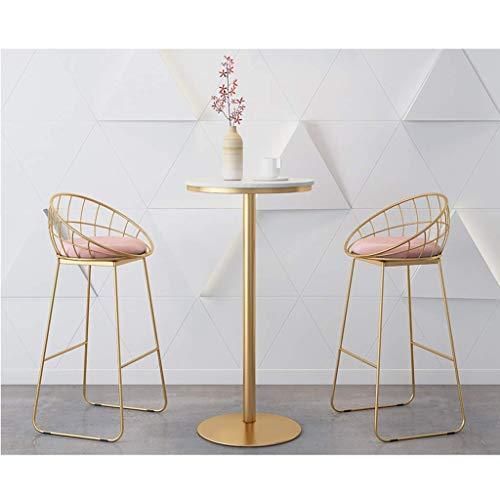 N/Z Tägliche Ausrüstung Hocker Esstisch Set 3-teilige Barhocker Mode Elegantes Frühstück Bistro Pub Tisch mit 2 Stühlen für Küche und Restaurant 3er Set