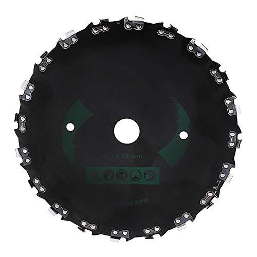 Zhuyu - Cabezal de deshierba redondo 10000 rpm tijeras de reparación de hierba, bandeja de metal para cortacésped accesorios