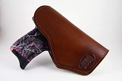 JM4 Tactical Magnetic Holster Brown Left Hand Medium | Great for Ruger LC9 | Glock 43 | Beretta Nano | Walther P22 & More!