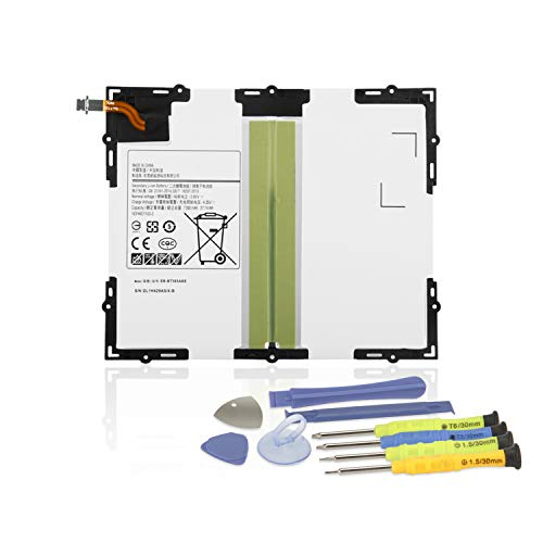 "K KYUER 3.8V 27.74Wh 7300mAh EB-BT585ABE EB-BT585ABA Tablette Laptop Akku Replacement für Samsung Galaxy Tab A 10.1"" 2016 SM-T580 SM-T585 SM-T585C SM-P580 SM-T587 SM-T587P Tablet Battery with Tools"