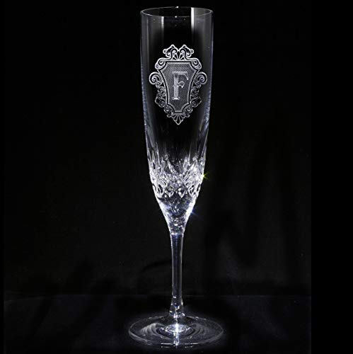 Waterford Crystal Engraved Lismore Champagne Toasting Flute Glass