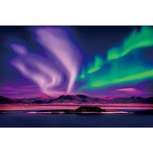Ingooood-Jigsaw Puzzle 1000 Pieces-Sneak Peek Series- Northern Lights_IG-1071 Entertainment Toys for Adult Special Graduation or Birthday Gift Home Decor