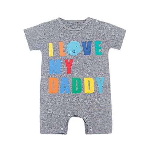 🔥Baby Neugeboren Babykleidung Strampler Motive - ICH Liebe Meinen Vater- Baby Body Kurzarm Jungen Mädchen Allence