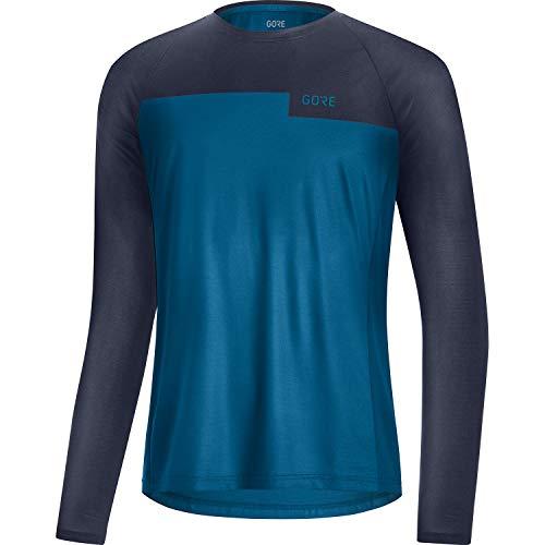GORE WEAR Camiseta de manga larga Trail para hombre, M, Azul cobalto/Azul marino