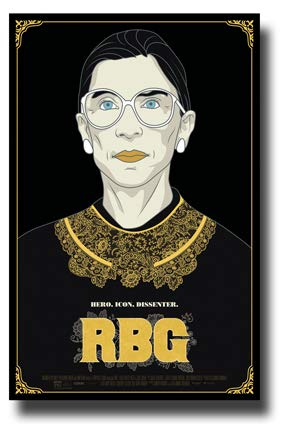 RBG Poster Movie Promo 11 x 17 inches Ruth Bader Ginsburg