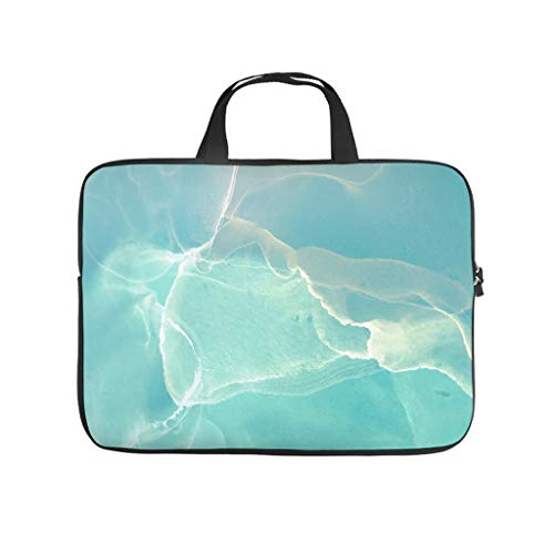 Laptop Sleeve Magic Marbling Dust-proof Modern Design -Carrying Case Compatible with 13-15.6 inch white 15 zoll