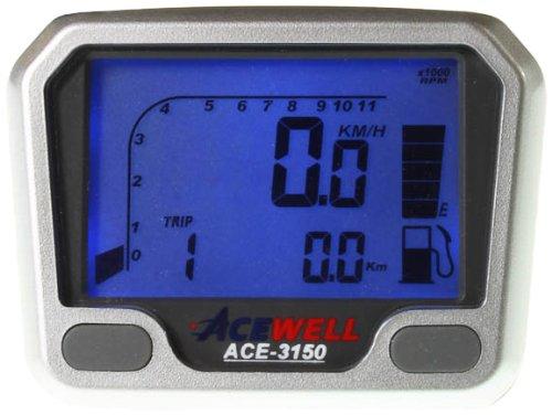 Acewell ACE-3150 Quad / ATV und Motorrad Tachometer mit Drehzahlmesser und Kraftstoffanzeige