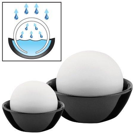Amos Atmos Sphere Humidificador de Aire Evaporativo de Agua Conjunto de 2 Piedras Decorativas Para Humidificación Natural Ecológica de Hogar Casa Oficina
