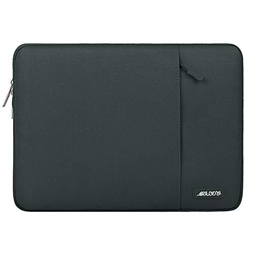 MOSISO Laptop Sleeve Hülle Kompatibel mit 15 Zoll MacBook Pro Touch Bar A1990 A1707, ThinkPad X1 Yoga, 14 Dell HP, 2019 Surface Laptop 3 15, Polyester Vertikale Stil Laptoptasche, Mitternacht Grün