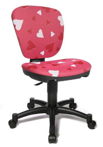 Topstar MAXX Kid Chaise de bureau pivotante pour enfant avec cœurs Rose