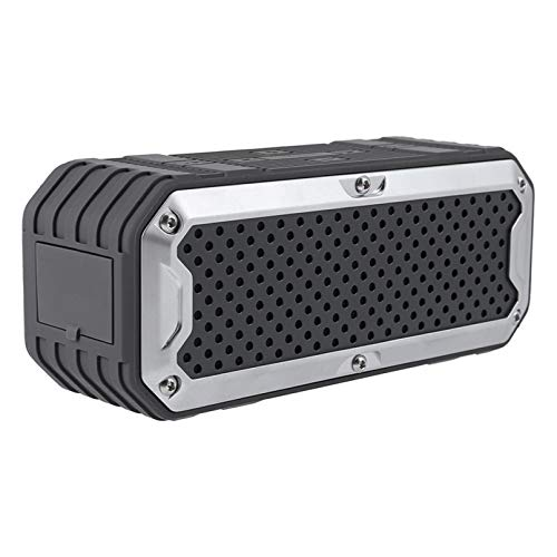 Waterproof Rugged Bluetooth Speaker - Shockproof, for Outdoors in All Weather, Loud, Built-in 4000mAh Power Bank, FM Radio, LED Flashlight, Portable Wireless Speaker with Mic for Travel