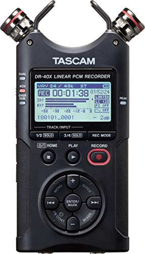 Tascam DR-40X Tragbarer Vierspur-Audiorecorder und USB-Interface