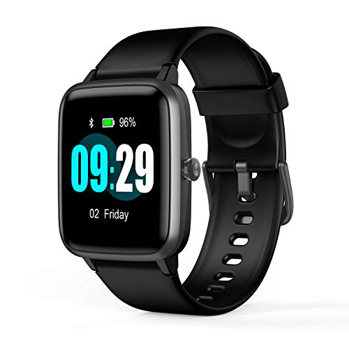 Updated 2019 Version Smart Watch for Android iOS Phone, Activity Fitness Tracker Watches Health Exercise Smartwatch with Heart Rate, Sleep Monitor Compatible with Samsung Apple iPhone (Black)