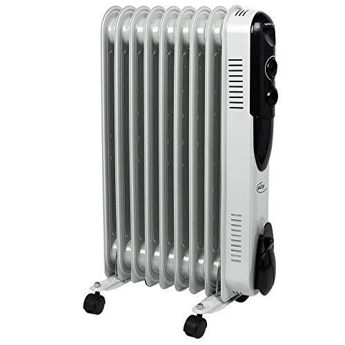 Elta Öl Radiator Elektro Stand Heizung mobil 3 Stufen Heizer 2000 Watt Thermostat einstellbar OR-1409